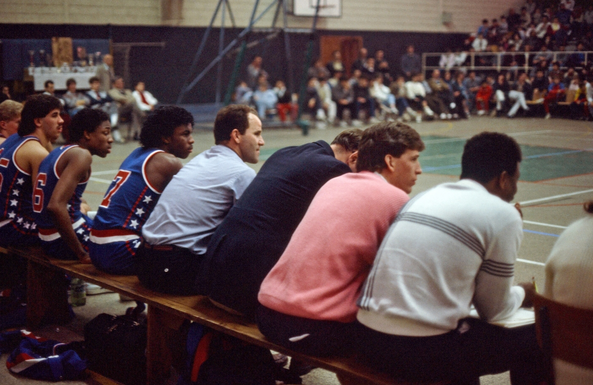 1986 Cholet(024) Tom LeBlanc, Wes   Sisson, Steve Perkins, Shane Washington